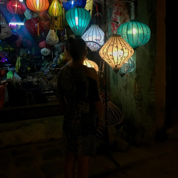 hoi an by night with kids lantern shopping