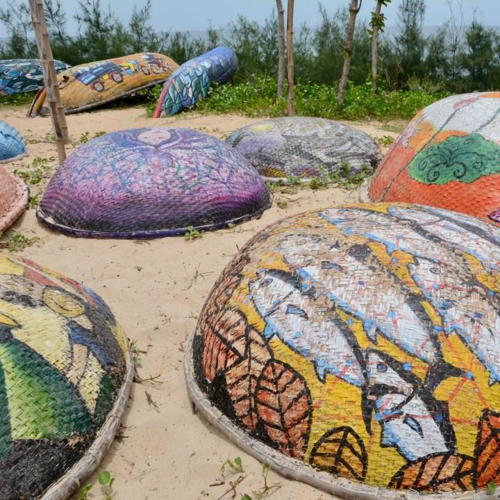travel with kids vietnam tam than art village boats