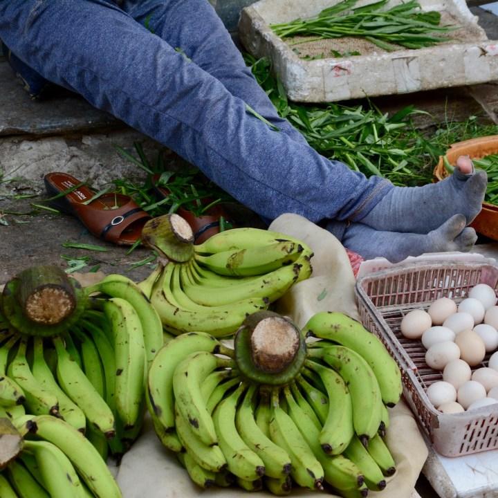 vietnam with kids hoi an cooking class bananas