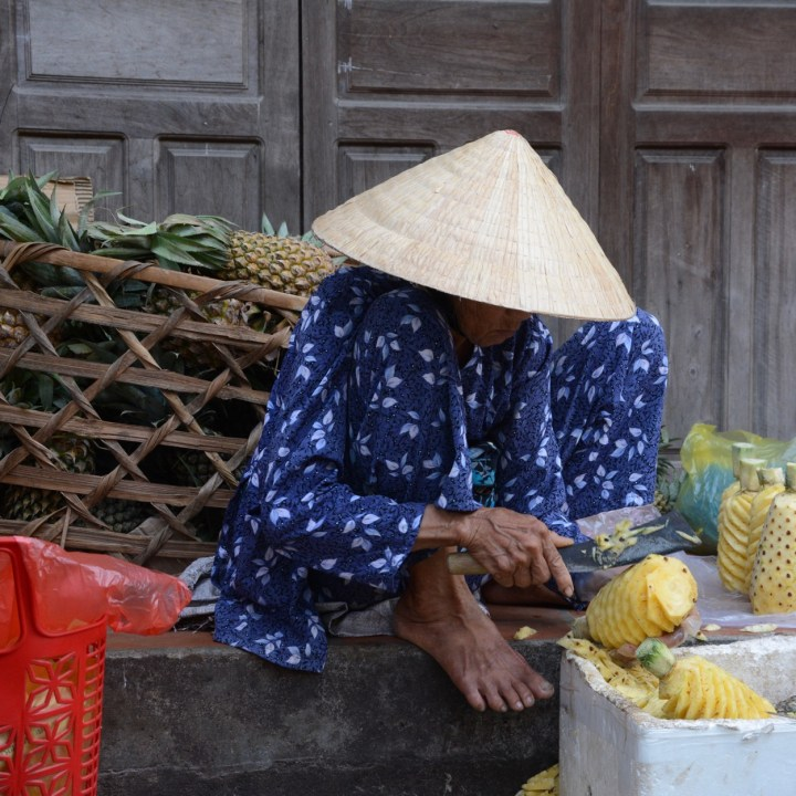 vietnam with kids hoi an cooking class pineapple