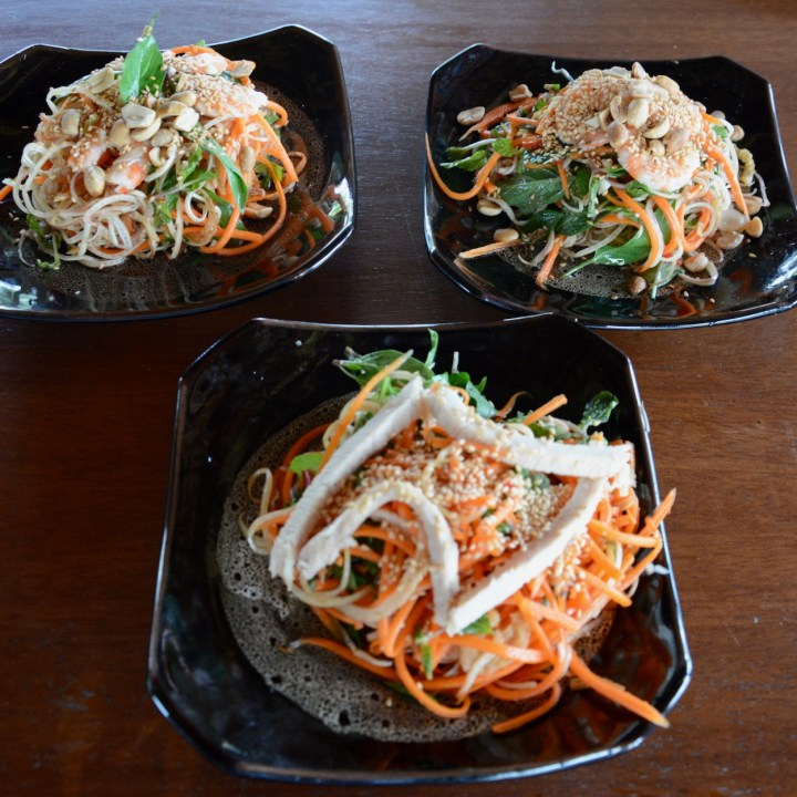 vietnam with kids hoi an cooking class prawn salads