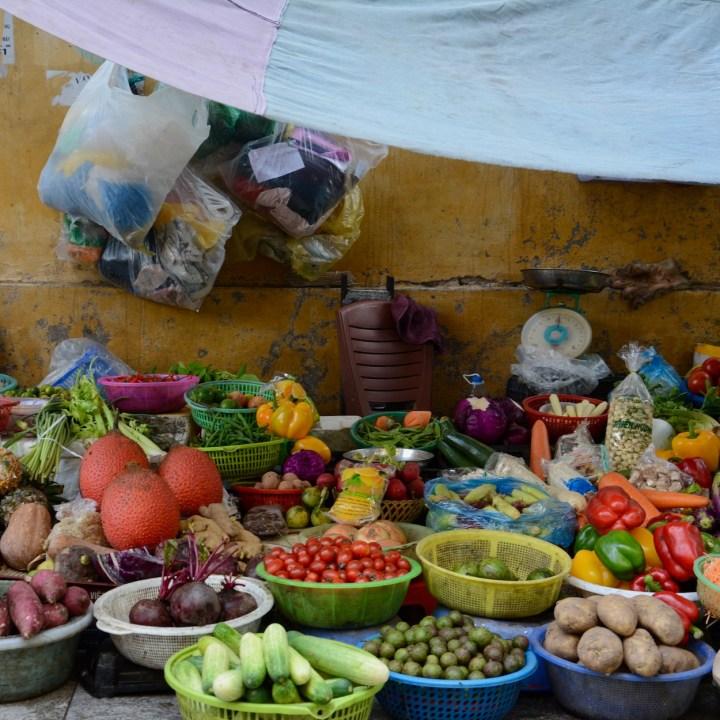 hanoi with kids fruit and veg