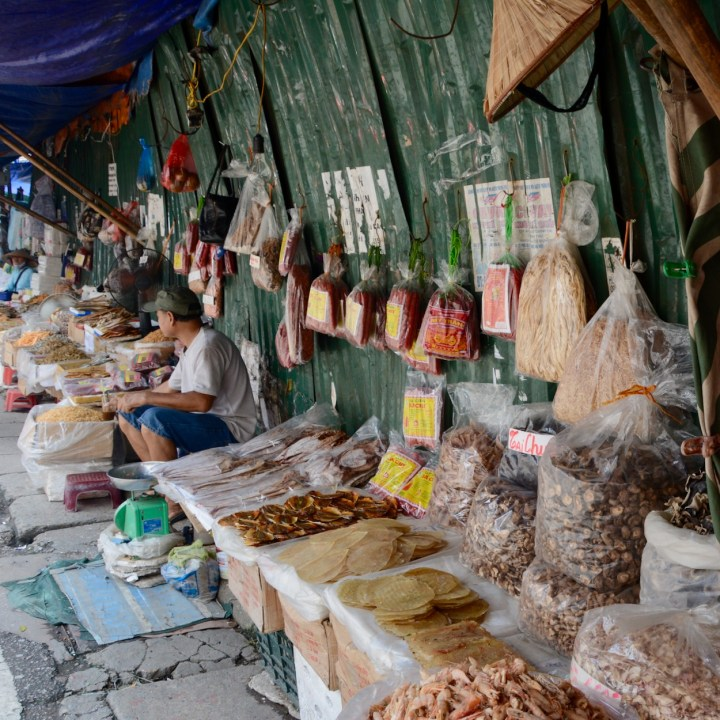 hanoi with kids market dried fish