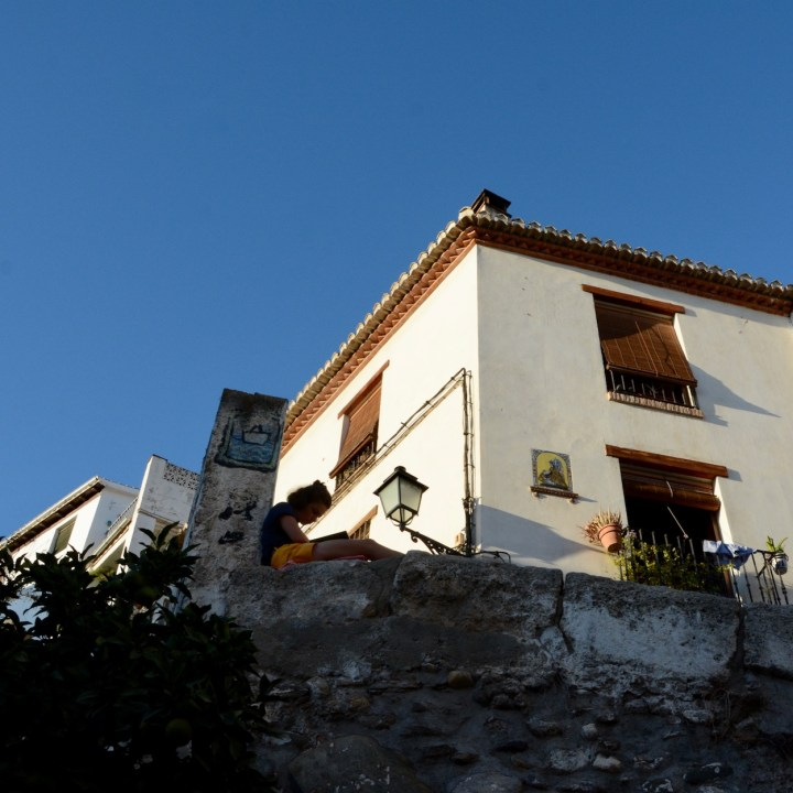 Granada spain with kids book reading