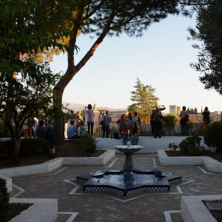 Granada spain with kids mosque garden