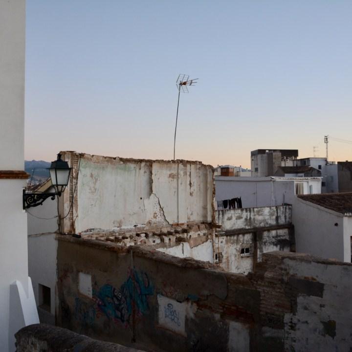 Granada spain with kids crumbling buildings