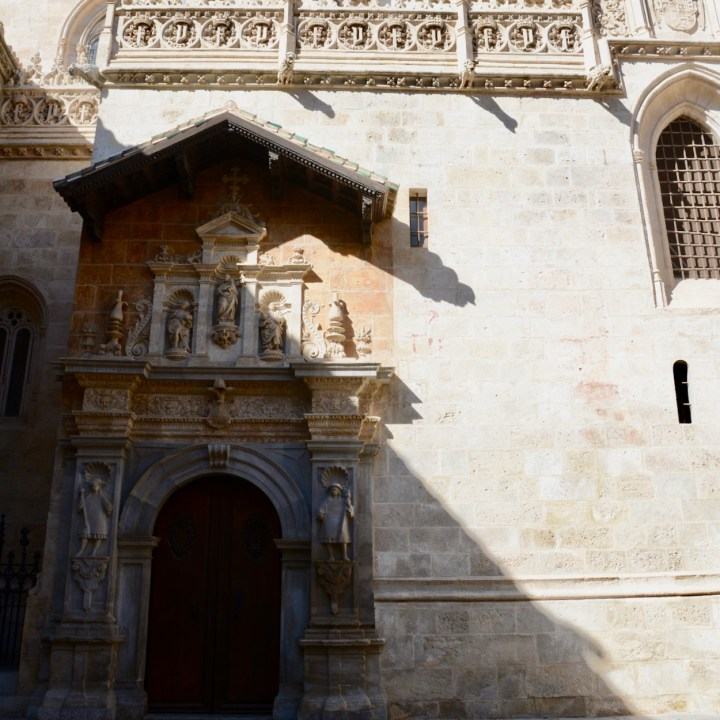 granada with kids cathedral door