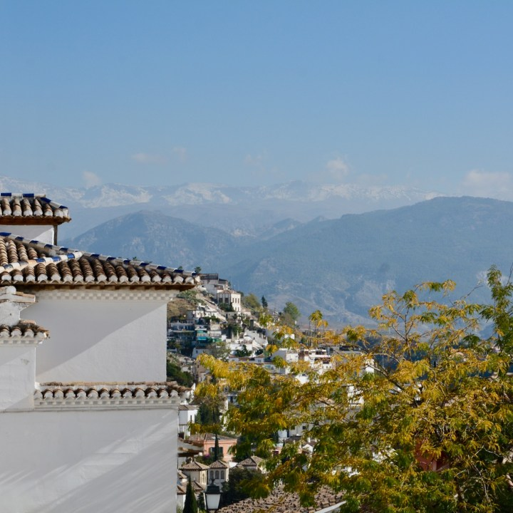 granada with kids snow topped sierra nevada