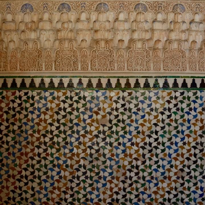 alhambra with kids nasrid palace glazed tiles