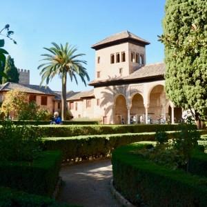 alhambra with kids nasrid palace Partal palace