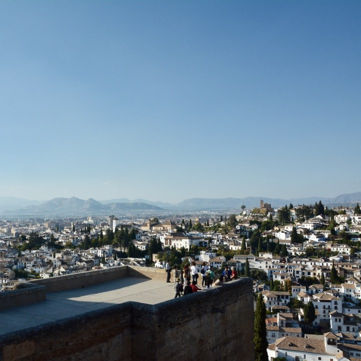 alhambra with kids alcazaba tower albaicin views