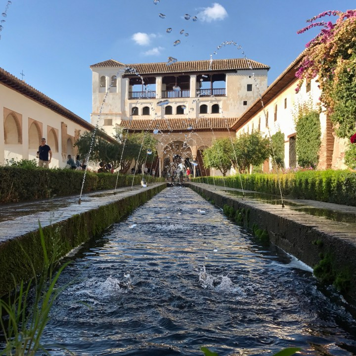 granada with kids generalife water feature