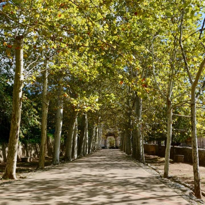 Mallorca with kids gardens alfabia entrance