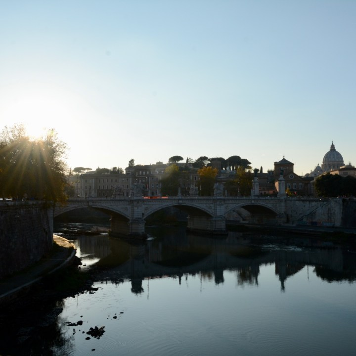 Rome with kids sunset view