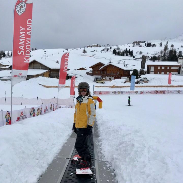 seiser alm skiing with kids ski school