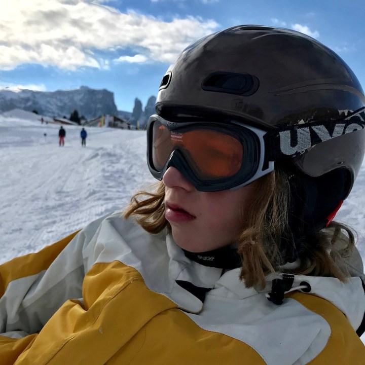 seiser alm skiing with kids break