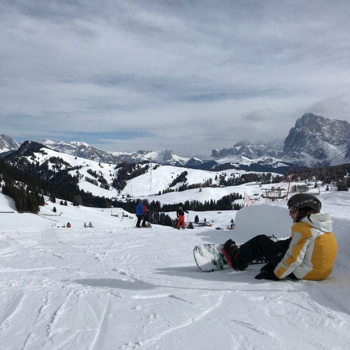 seiser alm skiing with kids start