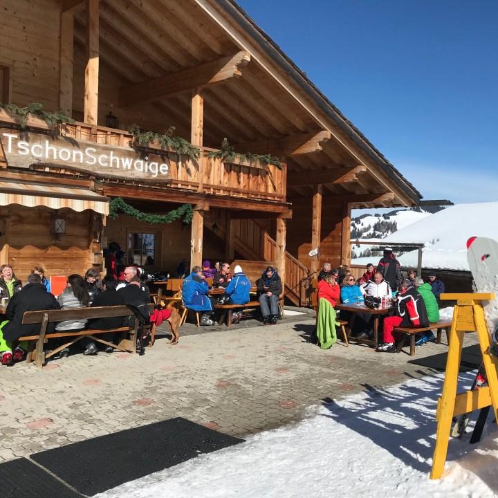 seiser alm skiing with kids Tschon Schwaige