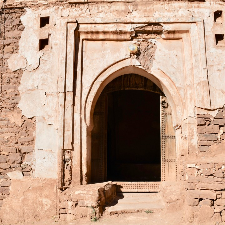 Morocco with kids Telouet Kasbah entrance
