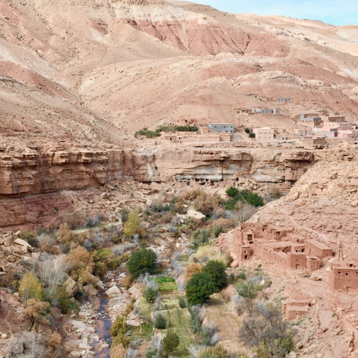 morocco with kids ounilla valley village view
