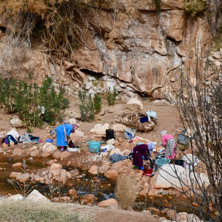 morocco with kids ounilla valley wash day