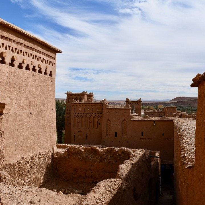 Ait Benhaddou with kids Morocco architecture