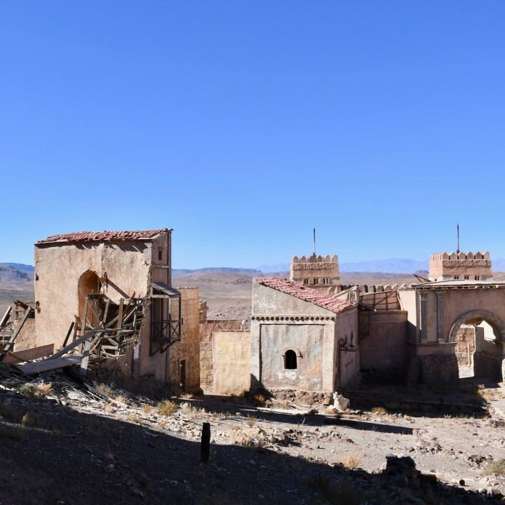 Ouarzazate Morocco with kids abandoned filmset village