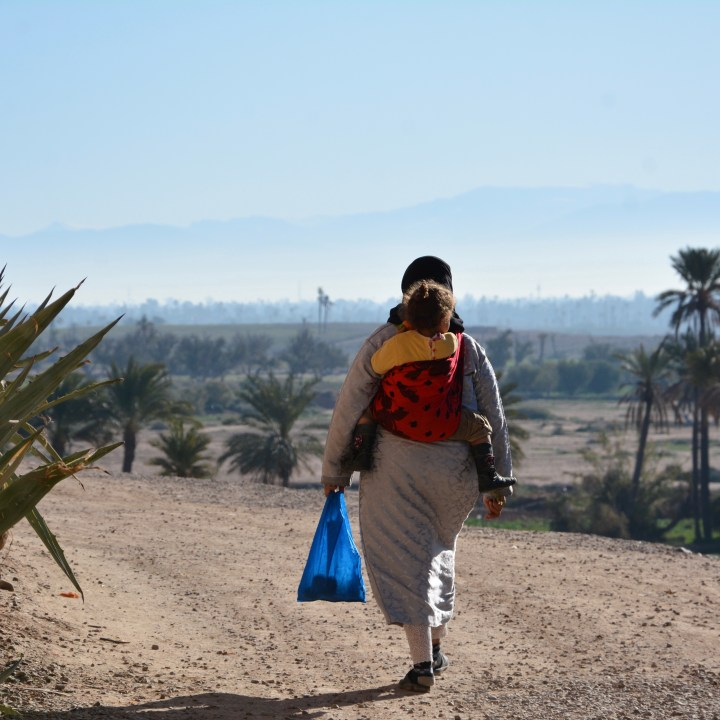 Morocco with kids baby carrier or push chair