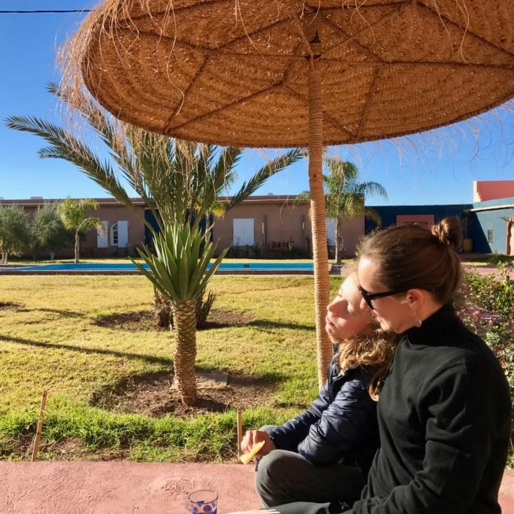 Morocco with kids breakfast vila touka