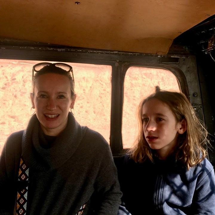 Morocco with kids Telouet taxi ride
