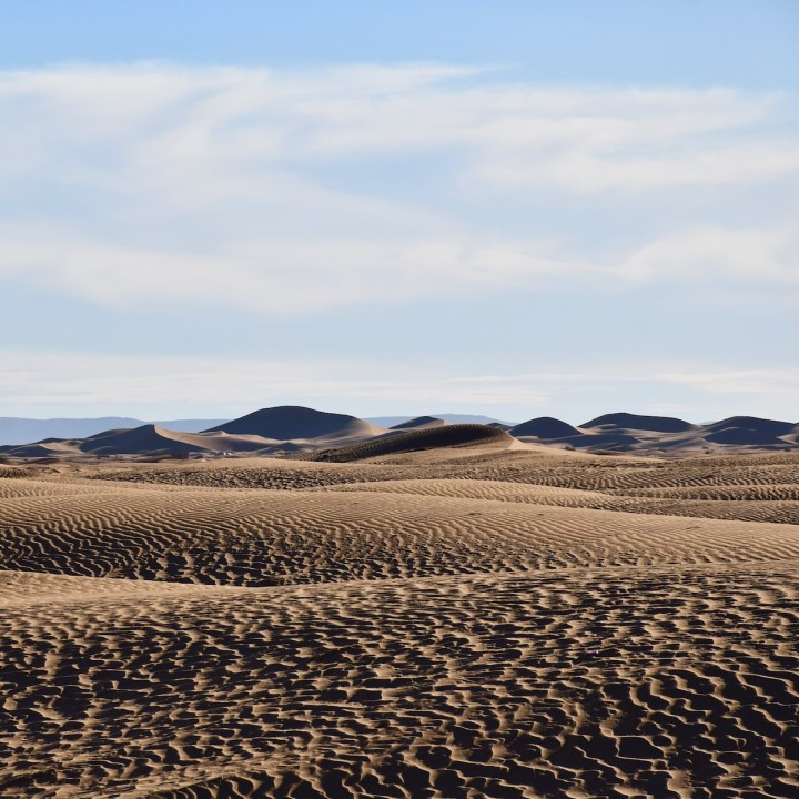 sahara desert erg chigaga with kids sea of sand