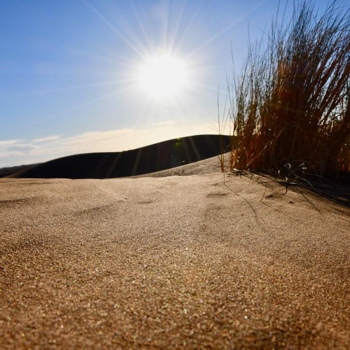 sahara desert erg chigaga with kids sun rays