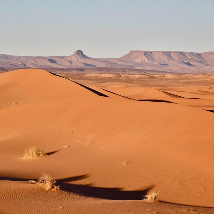 sahara desert erg chigaga with kids mountains
