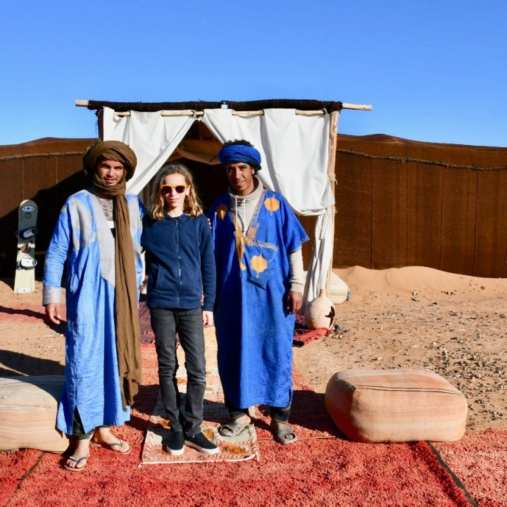 La Kahena luxury camp Erg Chigaga Sahara crew
