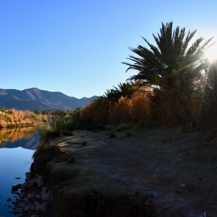 Agdz Morocco with kids Lodge Hara Oasis sunset