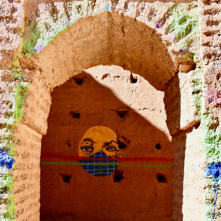 Agdz Morocco with kids draa valley hike art work