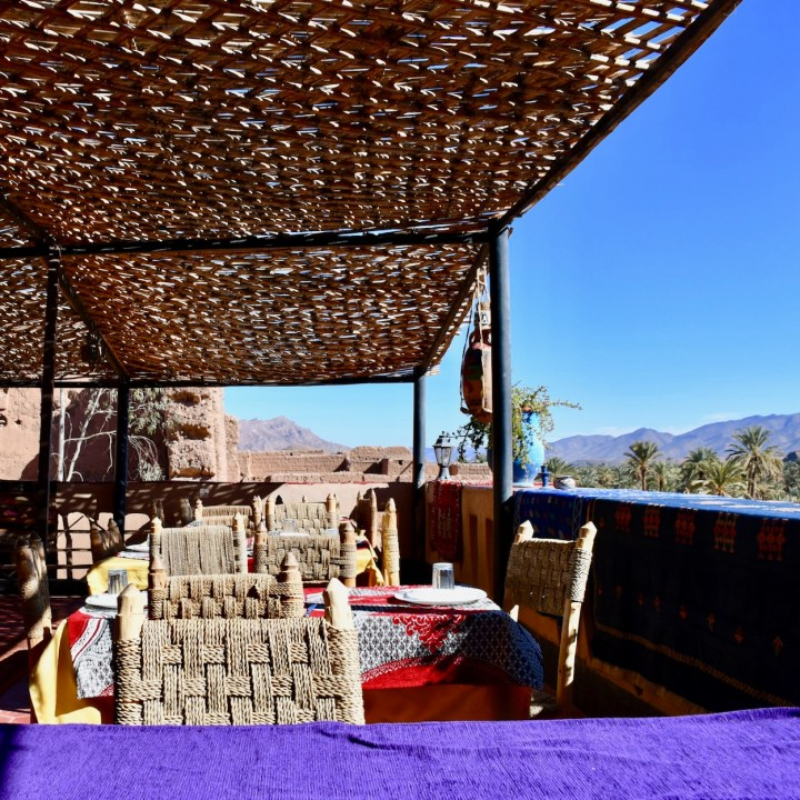 Draa Valley with kids Morocco restaurant chez yaakoub