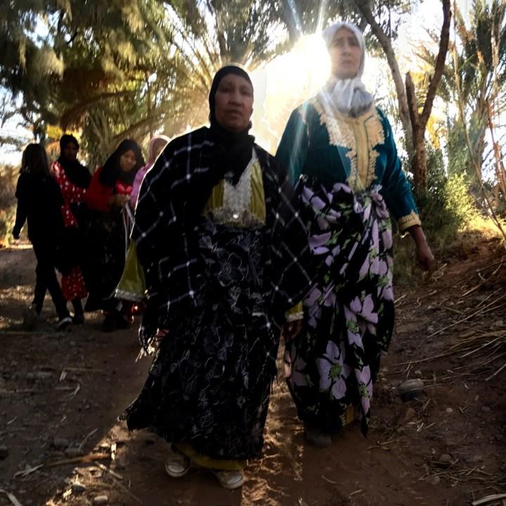 Agdz Morocco with kids Lodge Hara Oasis local women