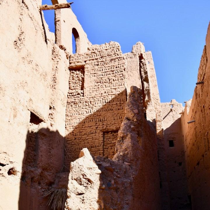 kasbah caids with kids Morocco bricks