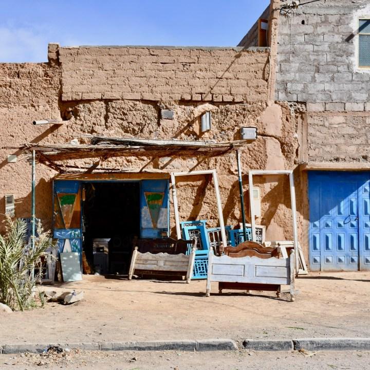 Agdz with kids Morocco carpenter