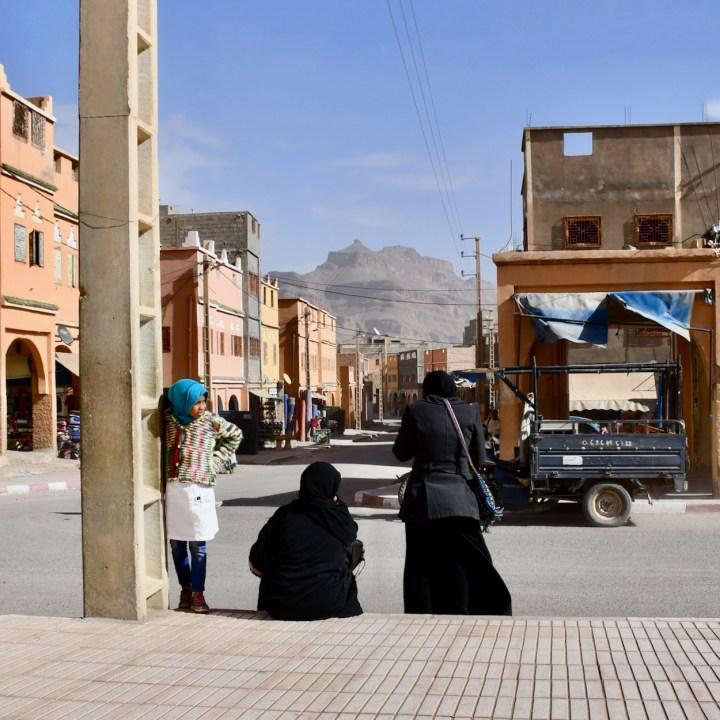 Agdz with kids Morocco waiting girl