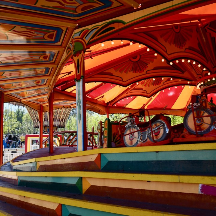 Margate Dreamland with kids speedway ride