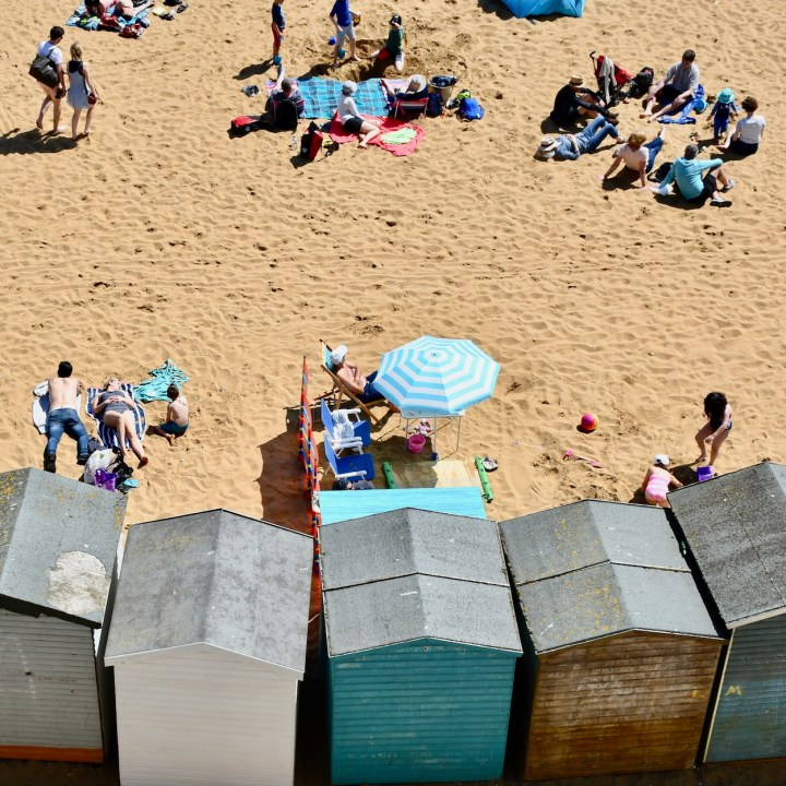 Broadstairs with kids bank holiday beach huts