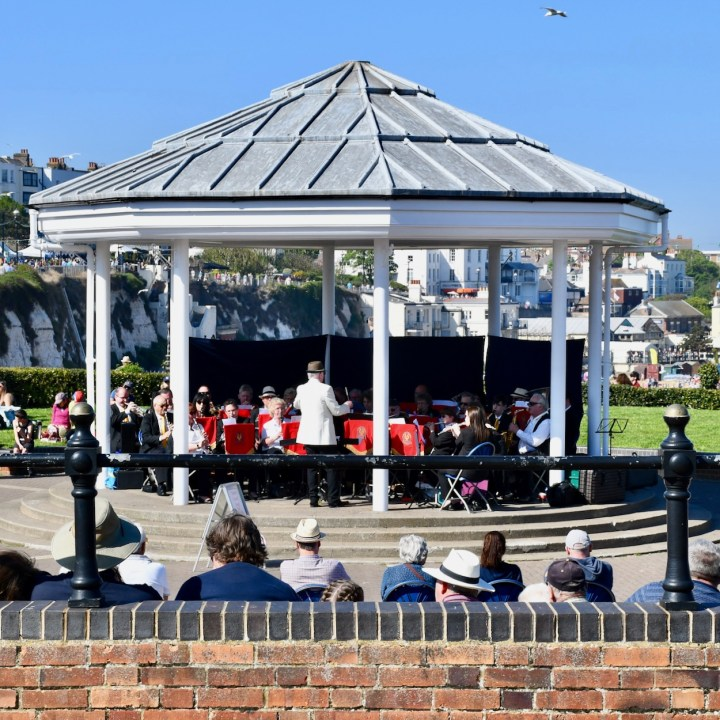 Broadstairs with kids British band stand