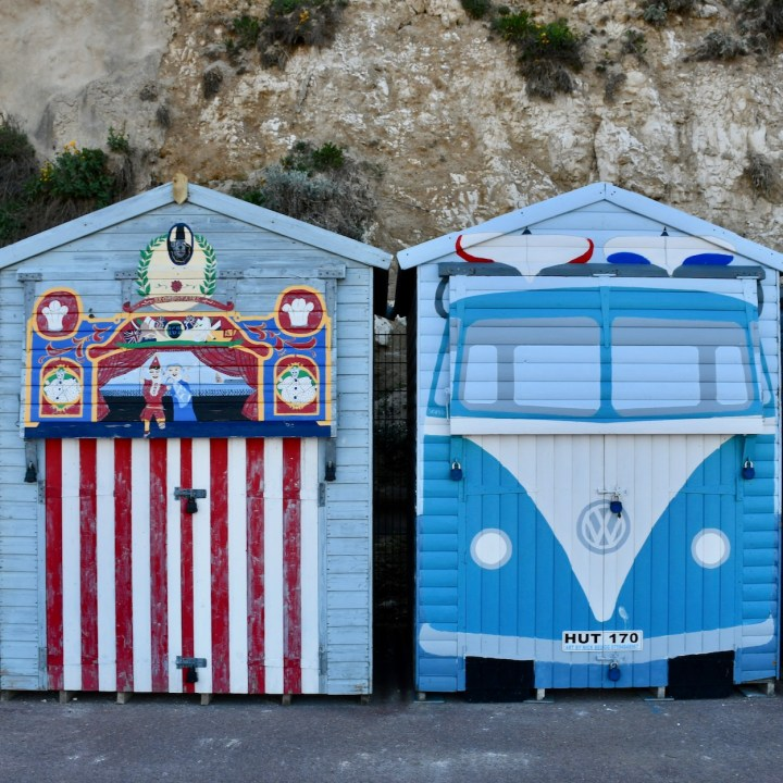 british seaside with kids broadstairs beach hut art