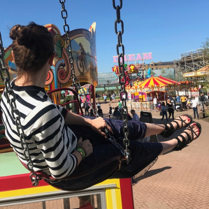 Margate dreamland with kids carousel
