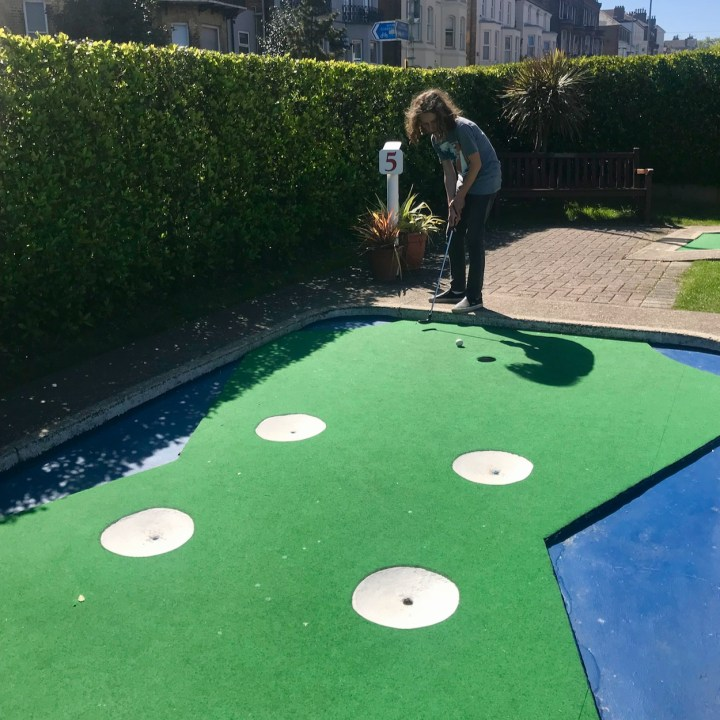 Broadstairs with kids minigolf