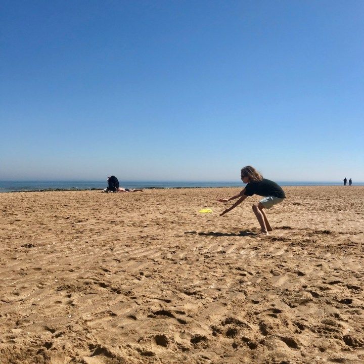 Broadstairs with kids British frisbee