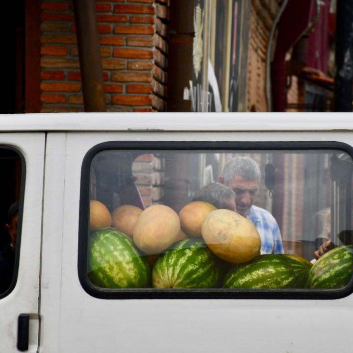 Exploring Georgia with kids melon truck