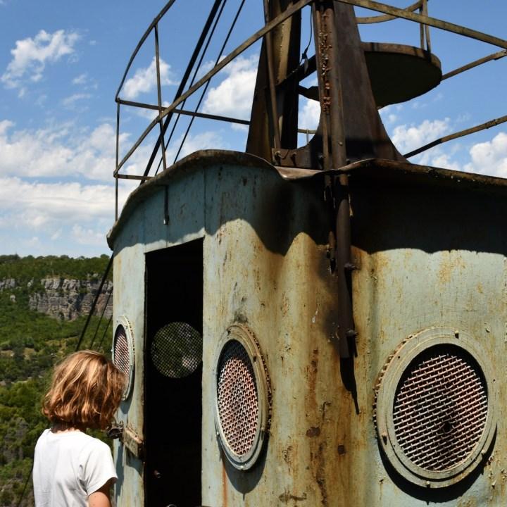 Exploring Georgia with kids Chiatura rusty gondola